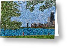 Chicago - View From Lakefront Trail Greeting Card