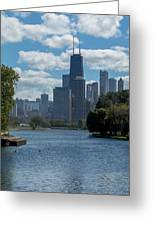Chicago - View From Lincoln Park Lagoon Greeting Card