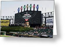 Chicago White Sox Home Coming Weekend Scoreboard Greeting Card