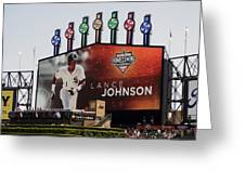 Chicago White Sox Lance Johnson Scoreboard Greeting Card