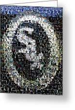 Chicago White Sox Ring Mosaic Greeting Card by Paul Van Scott