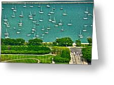 Chicago's Dusable Harbor  Greeting Card