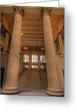 Chicagos Union Station Entry Greeting Card