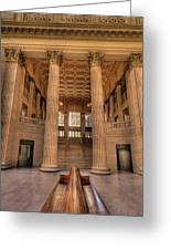 Chicagos Union Station Waiting Hall Greeting Card