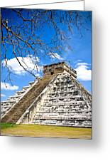 Chichen Itza And Tree Greeting Card