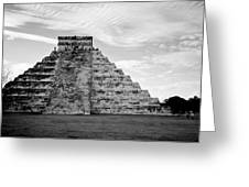 Chichen Itza B-w Greeting Card