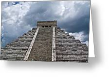 Chichen-itza Pyrmid In Mexico Greeting Card