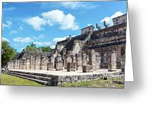 Chichen Itza Temple Of The Warriors Greeting Card