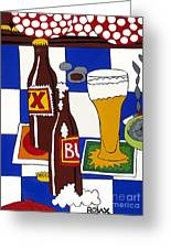 Chichis Y Cervesas Greeting Card by Rojax Art