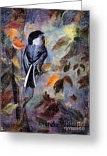 Chickadee In The Fall Greeting Card