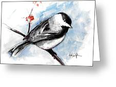 Chickadee Spring Greeting Card