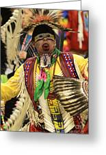 Pow Wow Chicken Dancer Greeting Card