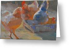Chicken Feed Greeting Card