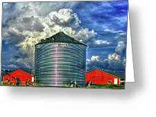 Chicken Feed Other Worldly Sky Art Greeting Card