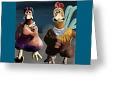 Chicken Run Greeting Card