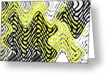 Chicken Scratch Abstract Greeting Card