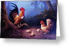 Chickens And The Fogs Greeting Card