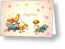Chicks And Eggs - Happy Easter Greeting Card