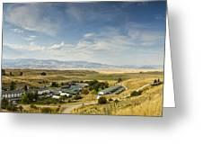 Chico Hot Springs Pray Montana Panoramic Greeting Card