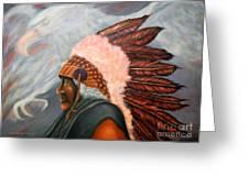 Chief Eagle Cloud Greeting Card