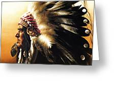 Chief Greeting Card by Greg Olsen