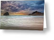 Chief Kiawanda Rock At Cape Kiwanda In Oregon Coast Greeting Card