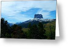 Chief Mountain, Emerging Greeting Card
