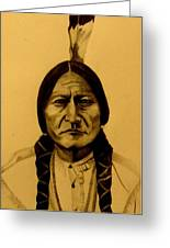 Chief Sitting Bull  Tatanka Iyotake Greeting Card