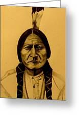 Chief Sitting Bull  Tatanka Iyotake Greeting Card