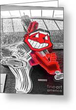 Chief Wahoo Sluggin Greeting Card