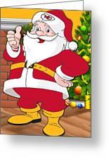 Chiefs Santa Claus Greeting Card
