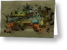 Chieftain Tank Abstract Greeting Card