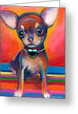 Chihuahua Dog Portrait Greeting Card by Svetlana Novikova