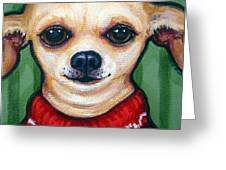 Chihuahua In Red Sweater - Boss Dog Greeting Card