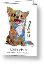 Chihuahua Pop Art Greeting Card