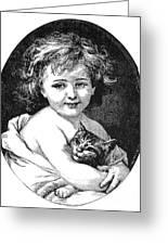 Child & Pet, 19th Century Greeting Card