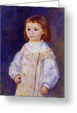 Child In A White Dress Lucie Berard 1883 Greeting Card