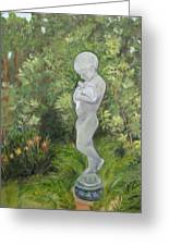 Child Of Peace As In Brookgreen Gardens Greeting Card by Shirley Lawing