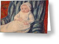 Child On A Sofa Greeting Card
