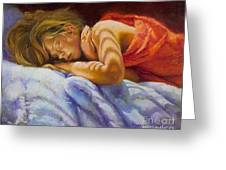 Child Sleeping Print Wall Art Room Decor Greeting Card