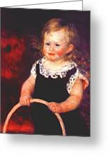 Child With A Hoop Greeting Card