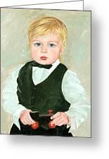 Child With A Toy Greeting Card by Ethel Vrana