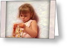 Child With Jewelry Greeting Card