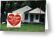 Childhood Home Of Bill Clinton Greeting Card