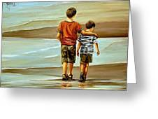 Childhood Shore Greeting Card