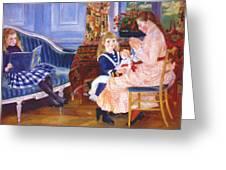 Children Afternoon At Wargemont Marguerite 1884 Greeting Card