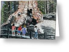 Children At Sequoia National Park Greeting Card