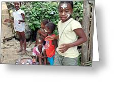 Children Of Madagascar Greeting Card