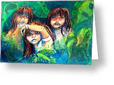 Children Of The Jungle Greeting Card