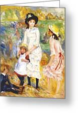 Children On The Seashore 1883 Greeting Card